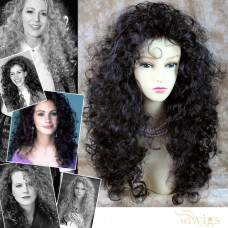 AMAZING SEXY Wild Untamed Long Curly Wig Black Brown Ladies Wigs WIWIGS UK
