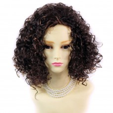 SEXY Wild Untamed Brown & Red Short Curly Ladies Wigs from WIWIGS.