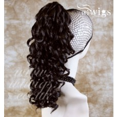 Dark Brown Ponytail Irish Dance Extension Spiral Curly Hair Piece UK