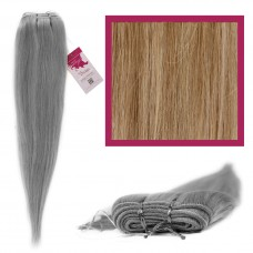 """DIY Double Weft Lush 'Ash Blonde' 16"""" Hair Extensions Deluxe Human Hair."""