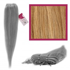"""DIY Double Weft Lush 'Beach Blonde Blend' 18"""" Hair Extensions Deluxe Human Hair."""
