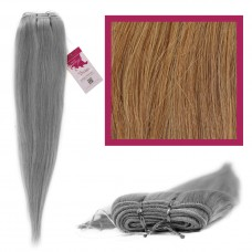"DIY Double Weft Lush 'Lightest Brown' 20"" Hair Extensions Deluxe Human Hair."