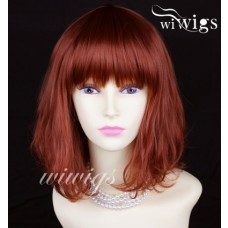 Classic SOFT Copper Red Ladies Wigs skin top Medium wig UK