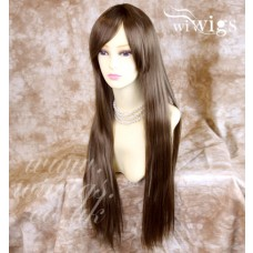 Sexy Long Straight Light Brown Ladies Wigs Heat Resistant Hair from WIWIGS UK