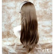 Wiwigs Long Straight Light Brown 1 Piece Hair Extension Hairpiece