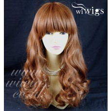 Sexy Gorgeous Layered Light Auburn Wavy Long Ladies Wigs Heat Resistant Wig UK