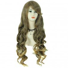 Wiwigs ® Beautiful Sexy Long Wavy Brown & Blonde Ladies full Wigs Fashion Hair