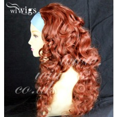 Curly Copper Red 3/4 Fall Hairpiece Long Curly Layered Half Wig Hair Piece UK