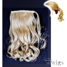 Ladies 1 Piece Clip Blonde mix Wavy Ponytail Wrap around Pony UK