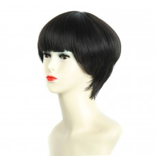 Wiwigs ® POSH Short Bob Full Hire with Fringe Dark Brown Ladies Wigs
