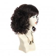 Wiwigs ® Classic Pretty Medium Curly Full Hire Dark Brown & Red Ladies Wigs