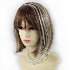 Gorgeous Short BoB Style Chestnut Brown & Blonde Ladies Wigs from WIWIGS UK