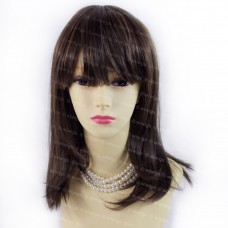 Gorgeous Soft Medium Long Dark Auburn mix Golden Blonde Ladies Wigs from Wiwigs