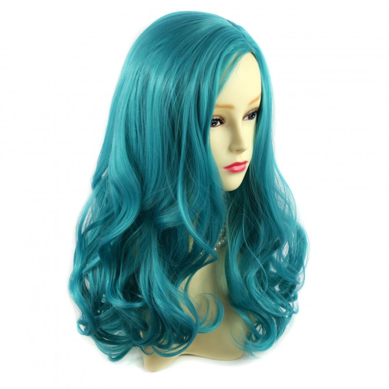 Wiwigs Wiwigs 174 Beautiful Fashion Wavy Turquoise Blue