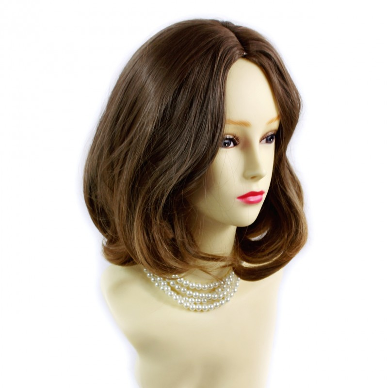 wavy hair styles for wiwigs wiwigs 174 lovely medium bob style wig strawberry 7751